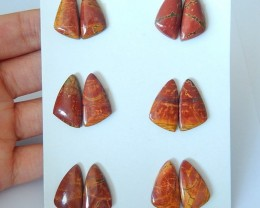 Big Promotions,Sell 6 Pairs Muti Color Picasso Jasper Cabochon Pairs(171226