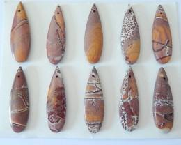 Wholesale,Sell 10PCS Natural Chohua Jasper Teardrop Necklace Pendant Bead ,