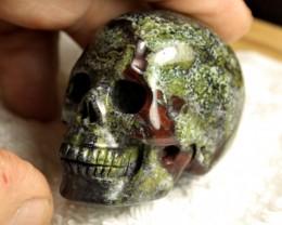 556 Carat China Bloodstone Skull - Cool