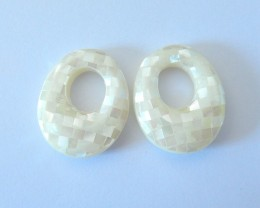 23ct Natural Pearl Jewelry With Large Hole For Women Earrings Accessory(171