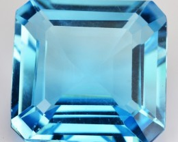 ~EMERALD CUT~ 21.67 Cts Natural Topaz Sky Blue Octagon Brazil