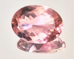 3.48ct Pastel Pink (Salmon hue) Tourmaline VVS gem