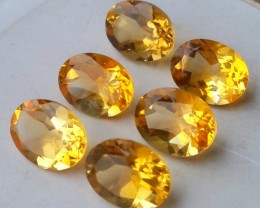 10.70 CTS DAZZLING TOP NATURAL YELLOW CITRINE OVAL BRAZIL NR!!!
