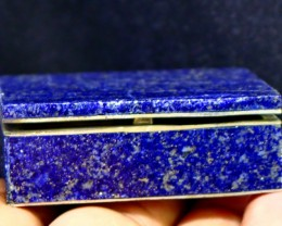 494 CT Natural lapis lazuli Carved Box Stone Special Shape
