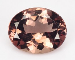~UNSEEN RARE~ 2.49 Cts Natural Brownish Pink Apatite Oval Brazil