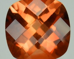 ~RARE~ 2.06 Cts Natural Sunset Orange Sunstone Andesine Cushion 8.0mm Congo
