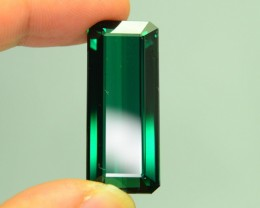 48.1 ct Elbaite Tourmaline Rich Green Mozambique KM.35