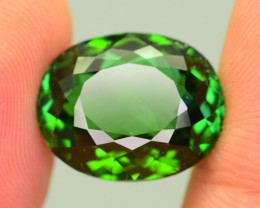 11.69 ct Elbaite Tourmaline Neon Green Mozambique KM.30