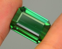 17.3 ct Elbaite Tourmaline Forest Green Mozambique KM.30