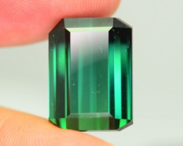 25.46 ct Elbaite Tourmaline Rich Green Mozambique KM.30