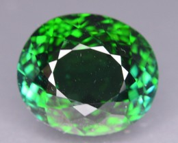 12.15 ct Elbaite Tourmaline Neon Green Color KM.30