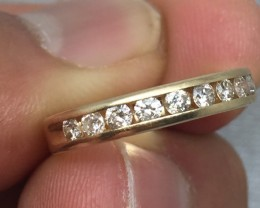(Box 2) Stunning $1500 0.60ct Anniversary Diamond Gold Ring Band