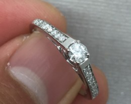(Box 2) Gorgeous $2000 Natural 0.55ct Authentic Gold And  Diamond Ring