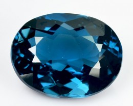 ~EYE CATCHING~ 10.57 Cts Natural London Blue Topaz Oval Brazil