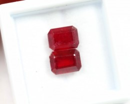 Lot 17 ~ 5.03Ct 7x5mm, 8x6mm Natural VS Clarity Blood Red Color Ruby