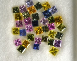 ~PRINCESS~ 4.16 Cts Natural Fancy Sapphire 36 Pcs Parcel