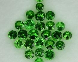 1.54 Cts Natural Green Tsavorite Garnet Round Cut 25 Pcs Parcel