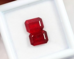 Lot 04 ~ 4.57Ct 8x6mm Natural VS Clarity Blood Red Color Ruby