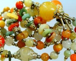 376.5Ct  Burmese Type-A Jadeite Jade 57-Beads necklace