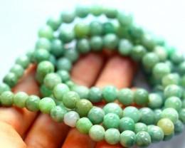 465.35Ct Genuine Burmese Type-A Jadeite Jade 81-Beads Necklace