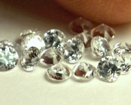 2.51 Carat VVS/VS White Zircon Accents - 2.8mm - 19pcs.