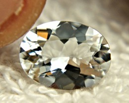 CERTIFIED - 2.19 Ct. VVS1/IF Colorless Goshenite Beryl