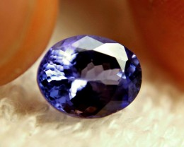 CERTIFIED - 2.62 Carat VVS1 Purple Blue African Tanzanite