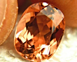 CERTIFIED - IF/VVS1 Orange / Pink Tourmaline - Superb