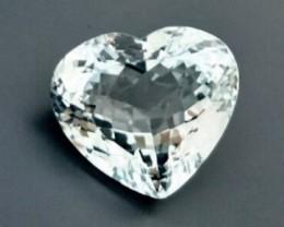 CERTIFIED BLUE TOPAZ HEART SHAPE ~ 35.07cts ~ GORGEOUS