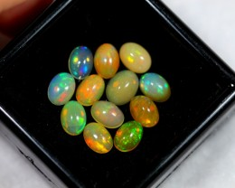 Lot 16 ~ 6.63ct Oval 7x5mm Welo Opal Parcel Lot