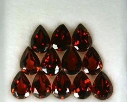 10.37 Cts Natural Rhodolite Garnet 7x5 mm Pear 12 Pcs Parcel