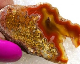 58CT BEAUTIFUL AGATE GEODE MEXICO RG-2597