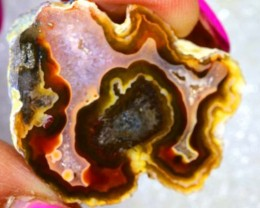 43CTS BEAUTIFUL AGATE GEODE MEXICO RG-2612