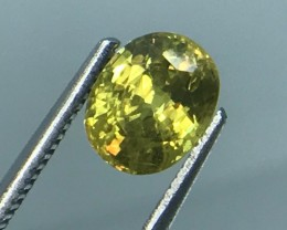 1.85 CT NATURAL YELLOW SPHENE HIGH QUALITY GEMSTONE B1