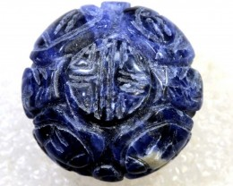 53 CTS SODALITE BEAD DRILLED  NP-2333