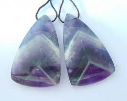 New Design,Natural Dark Amethyst Triangular Earrings,Fashion Women Jewelry