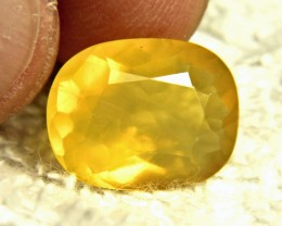 7.54 Carat Vibrant Yellow Mexican Fire Opal - Gorgeous