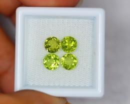 2.60ct Natural Green Peridot Round Cut Lot GW404