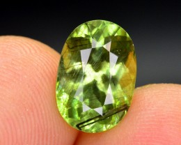 3.40 Ct Natural Gorgeous Color Rutile Peridot