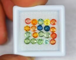 5.21ct Natural Fancy Color Sapphire Round Cut Lot GW413