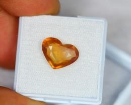 5.60Ct Natural Yellow Sapphire Heart Cut Lot V441