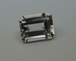 WHITE QUARTZ GEMSTONE LARGE EMERALD CUT