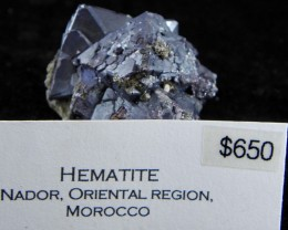 Very Rare Hematite display specimen Nador, Oriental Region, Morocco list $9