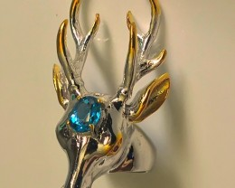 A MAGNIFICENT huge Deer Topaz Ring Size 8