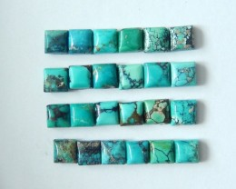 Wholesale,Sell 24pcs Natural High Quality Small Cut Turquoise Cabochons,100