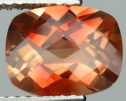 ~RARE~ 1.67 Cts Natural Sunset Orange Sunstone Andesine Cushion 9x7 mm Cong
