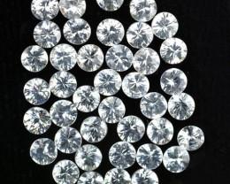 10.10 Cts Natural White Zircon 3.50 mm Diamond Cut 40 Pcs Parcel