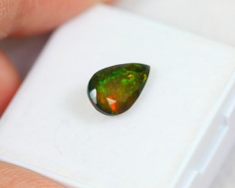 Lot 16 ~ 1.07ct Neon Ethiopian Welo Smoked Faceted Opal