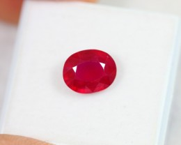 Lot 18 ~ 2.96Ct Natural VS Clarity Blood Red Color Ruby