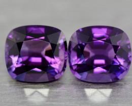 Rare bluish purple pair amethyst.